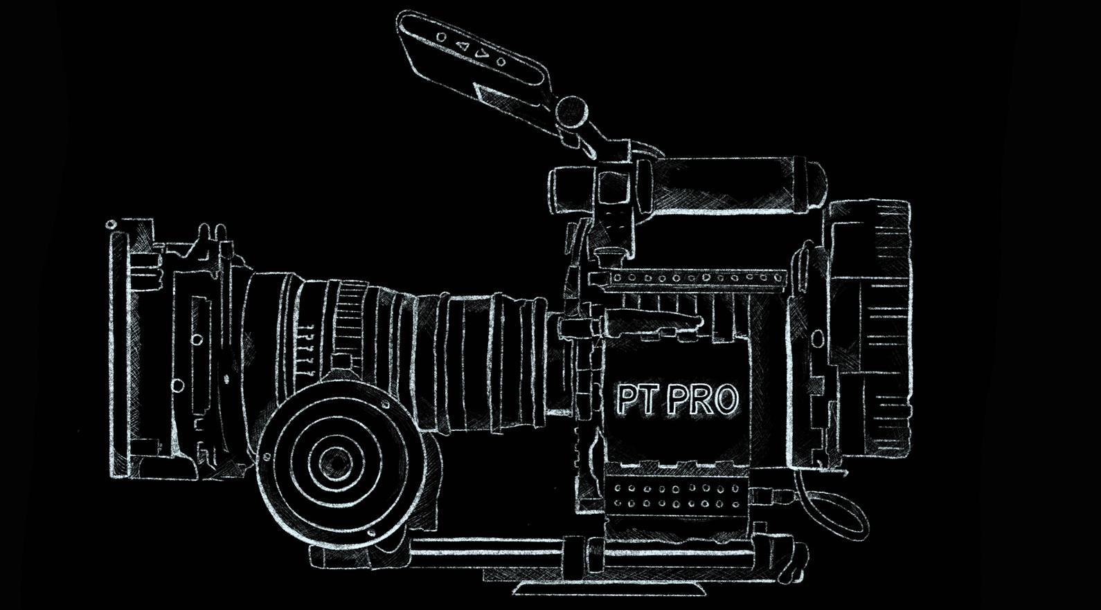 PT PRO camera logo illustration